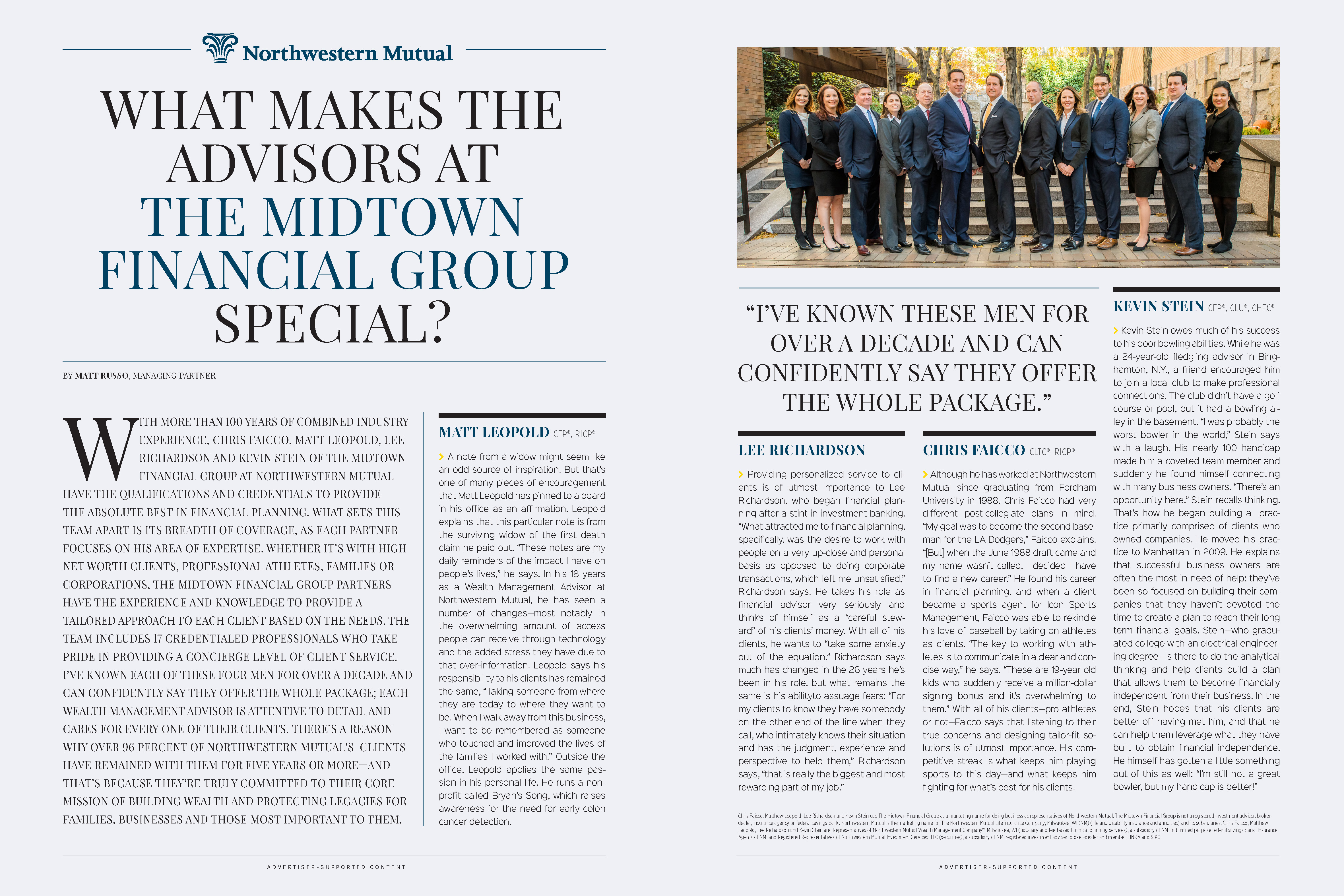 Northwestern Mutual: What Makes the Advisors at The Midtown Financial Group Special?